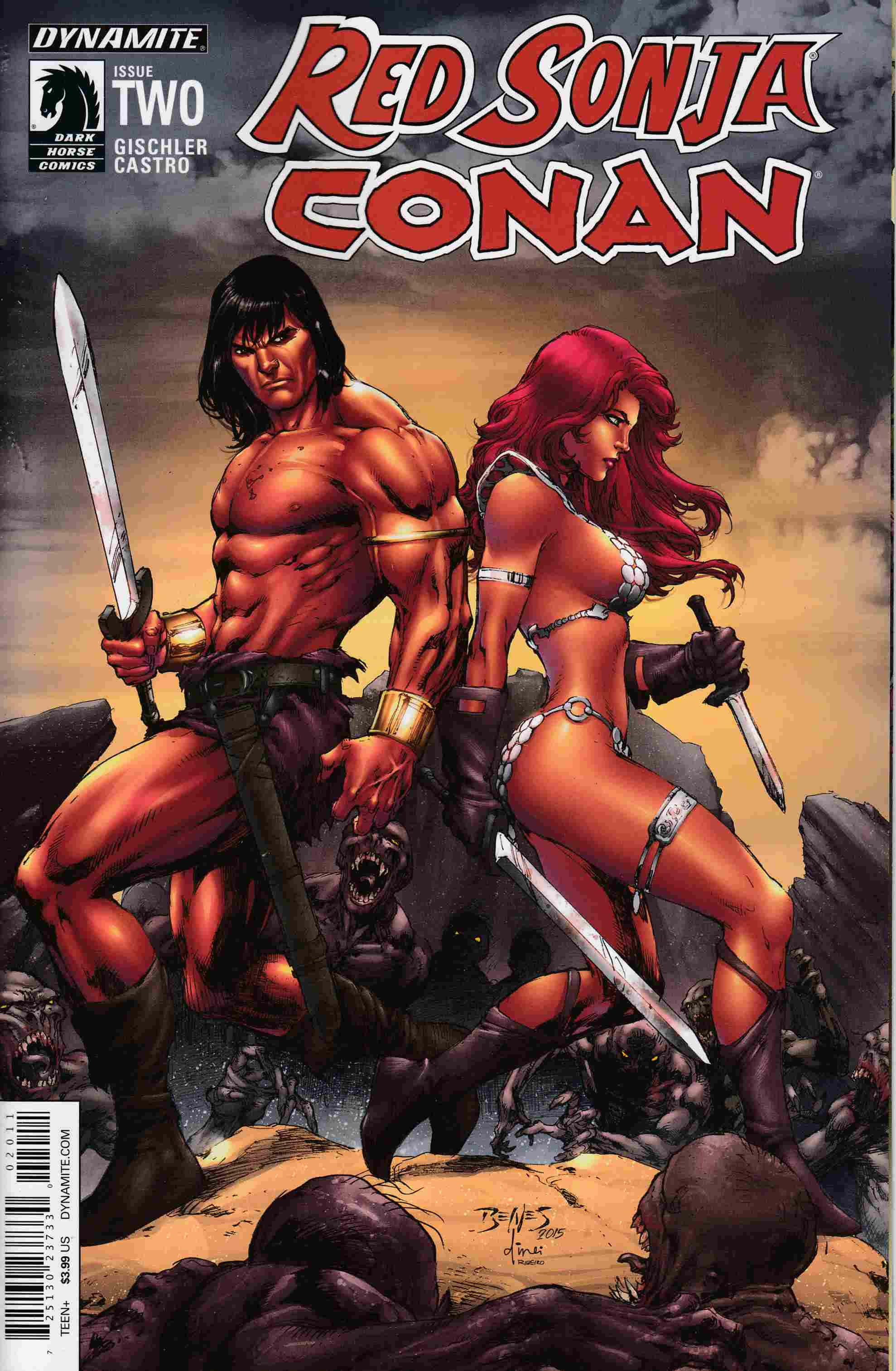 Red Sonja Conan #2 Cover A- Benes [Dynamite Comic]