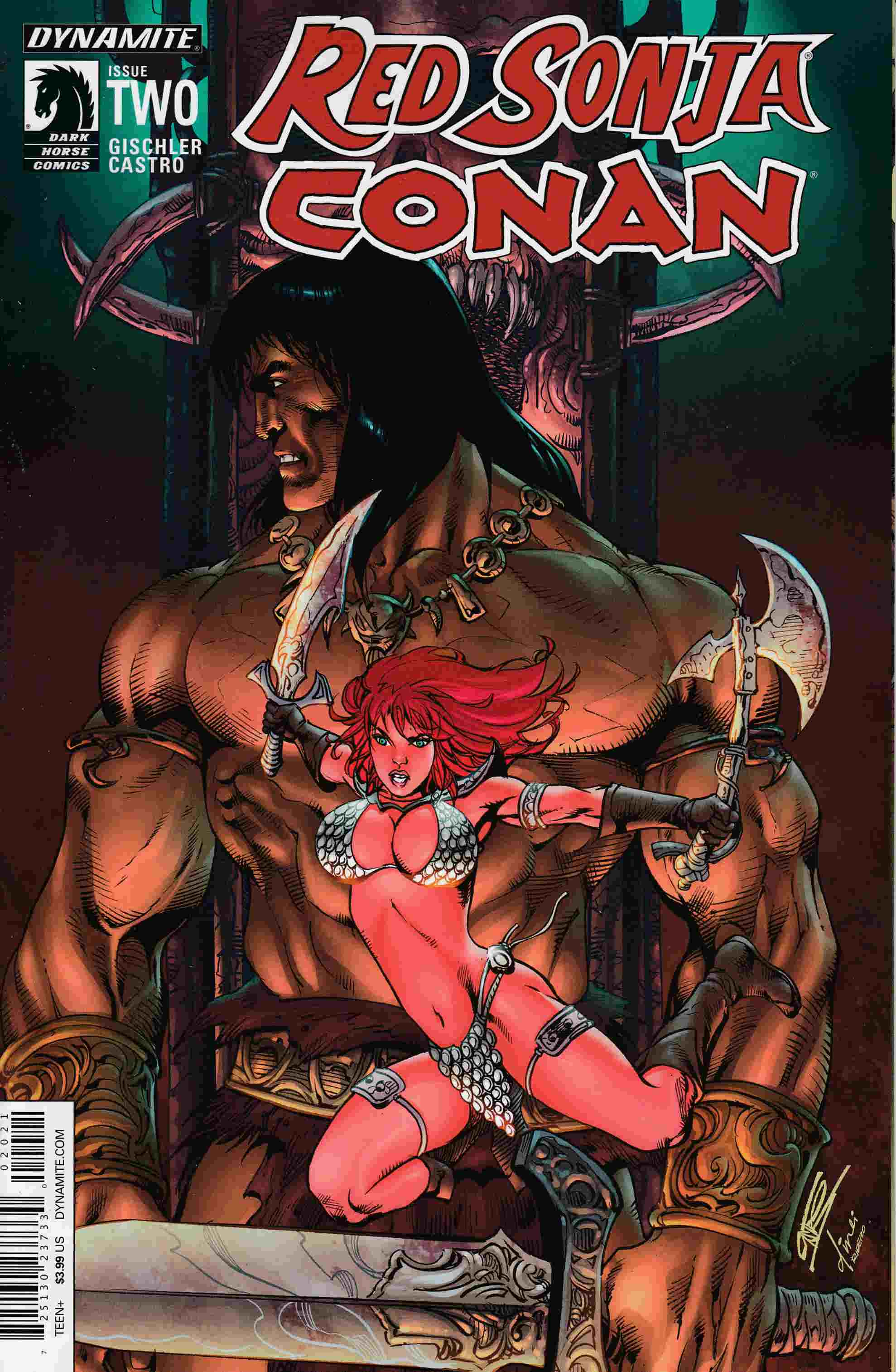 Red Sonja Conan #2 Cover B- Subscription [Dynamite Comic]