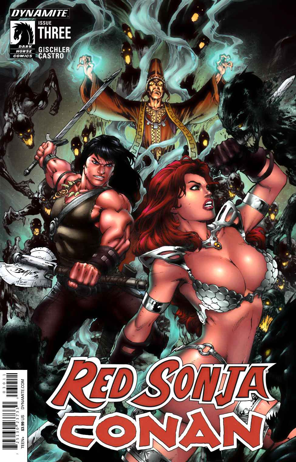 Red Sonja Conan #3 Cover A- Benes [Dynamite Comic]