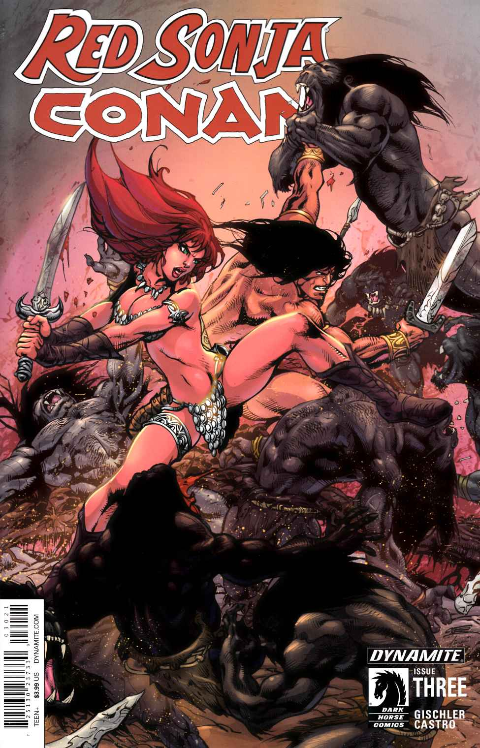 Red Sonja Conan #3 Cover B- Subscription Cover [Dynamite Comic]