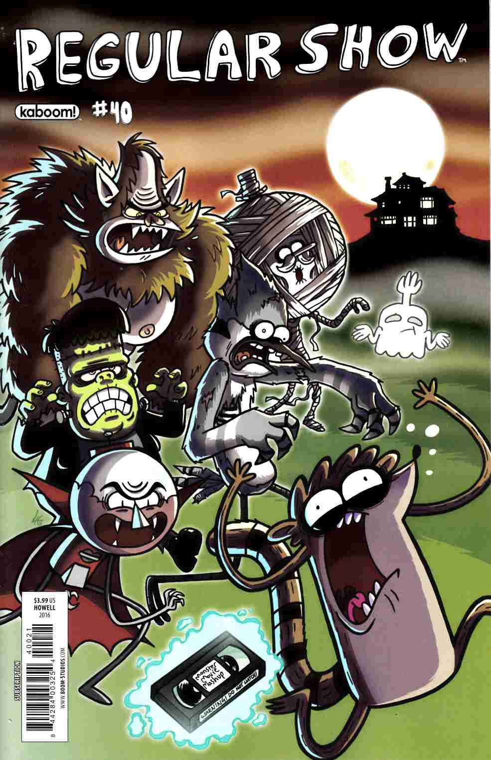 Regular Show #40 Subscription Cover [Boom Comic] THUMBNAIL
