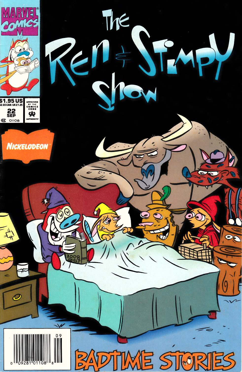 Ren & Stimpy Show #22 Newsstand Edition Fine (6.0) [Marvel Comic] LARGE