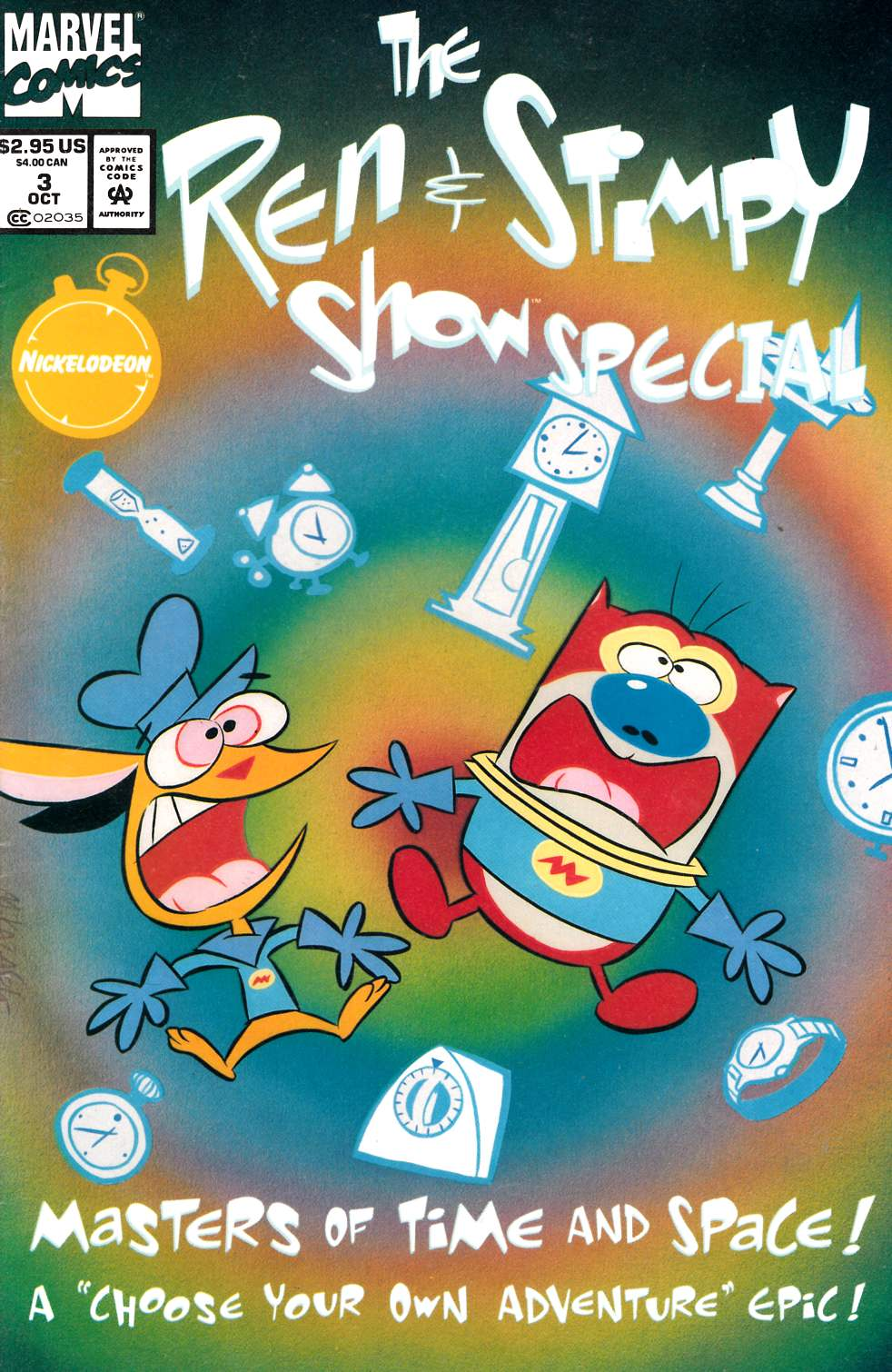 Ren & Stimpy Show Special #3 Newsstand Edition Very Good (4.0) [Marvel Comic] LARGE