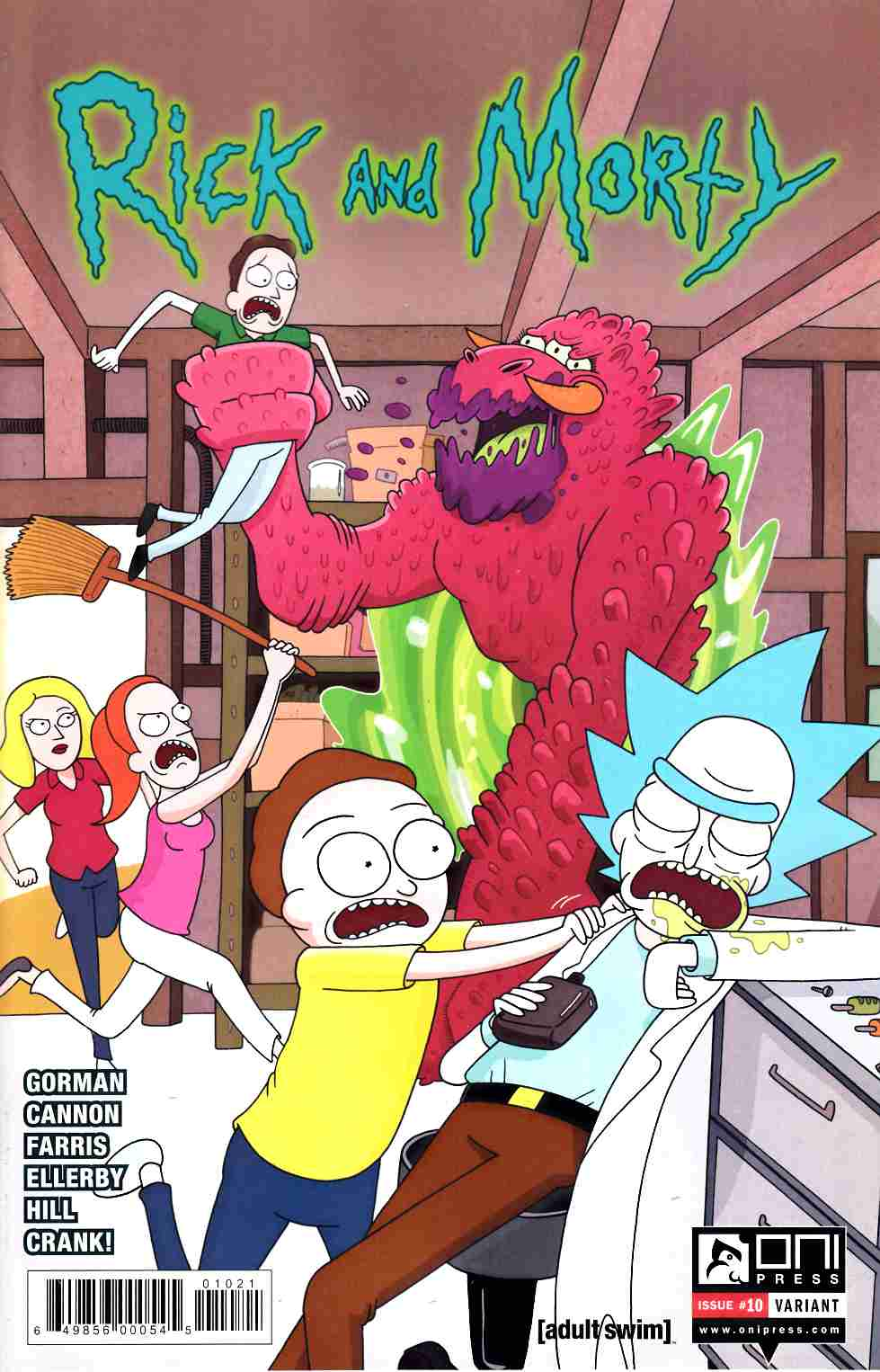 Rick & Morty #10 Ellerby Incentive Cover [Oni Press Comic] THUMBNAIL