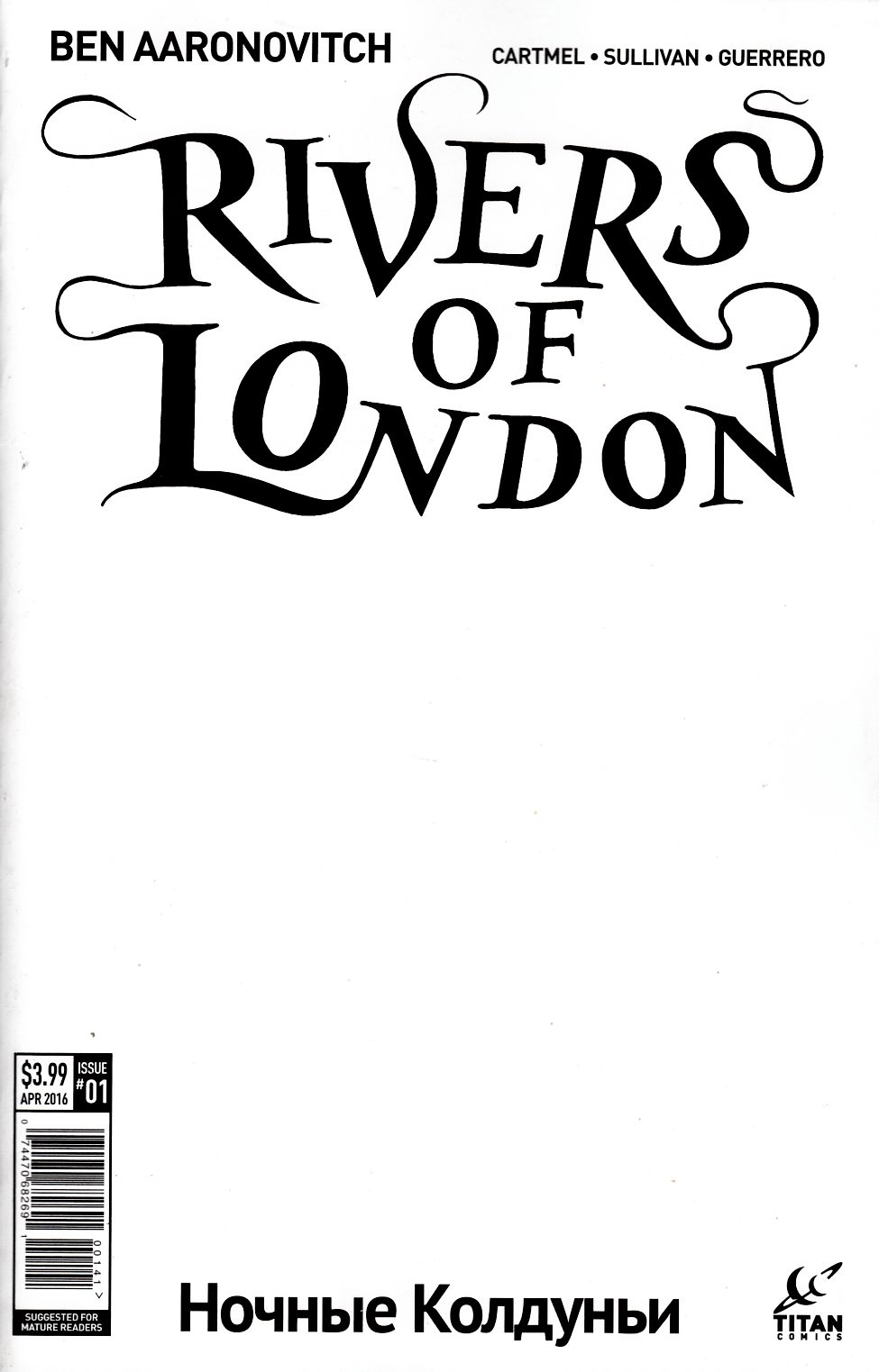 Rivers of London Night Witch #1 Cover D- Blank Sketch [Titan Comic] THUMBNAIL