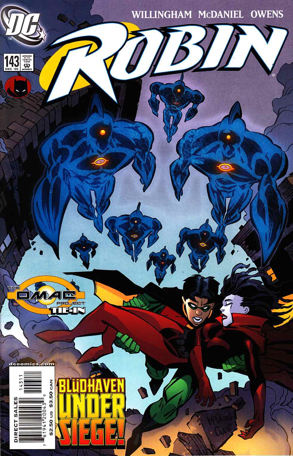 Robin #143 Dec 05 DC December 2005 Willingham mcdaniel Owens