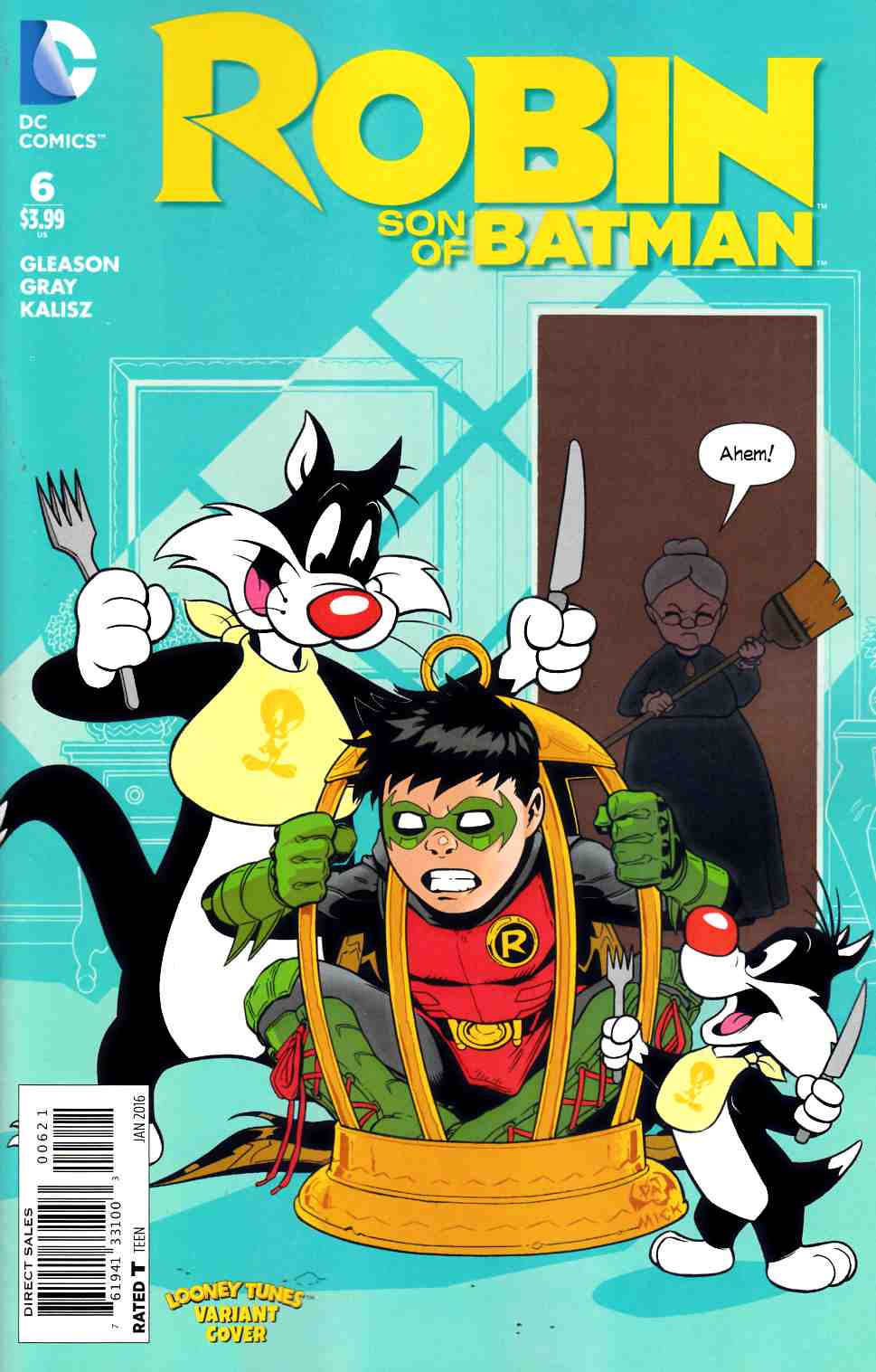 Robin Son of Batman #6 Looney Tunes Variant Cover [DC Comic]