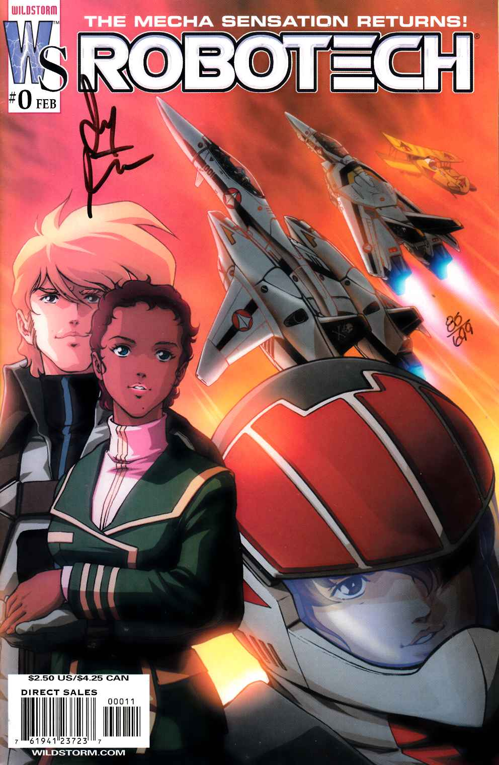 Robotech #0 DF Signed Edition Near Mint (9.4) [DC Comic] LARGE