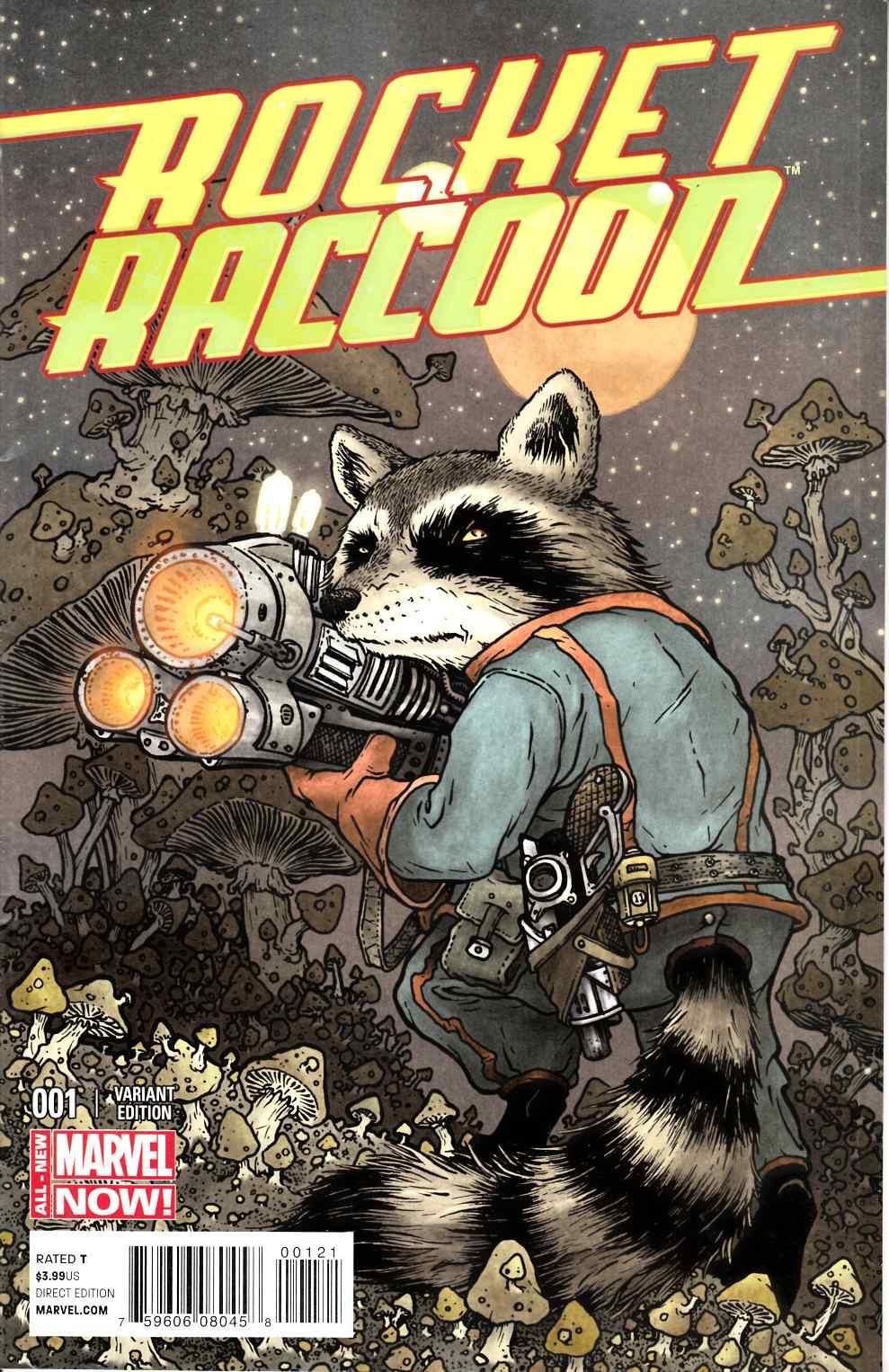 Rocket Raccoon #1 Peterson Raccoon Variant Cover [Marvel Comic]