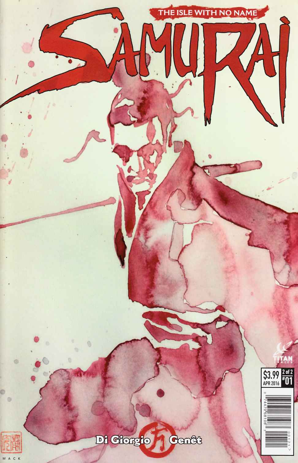 Samurai #1 Cover B- Mack [Titan Comic] LARGE