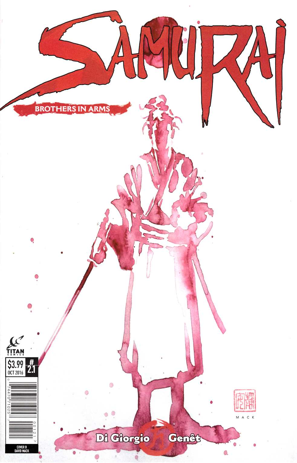 Samurai Brothers in Arms #1 Cover B [Titan Comic] THUMBNAIL