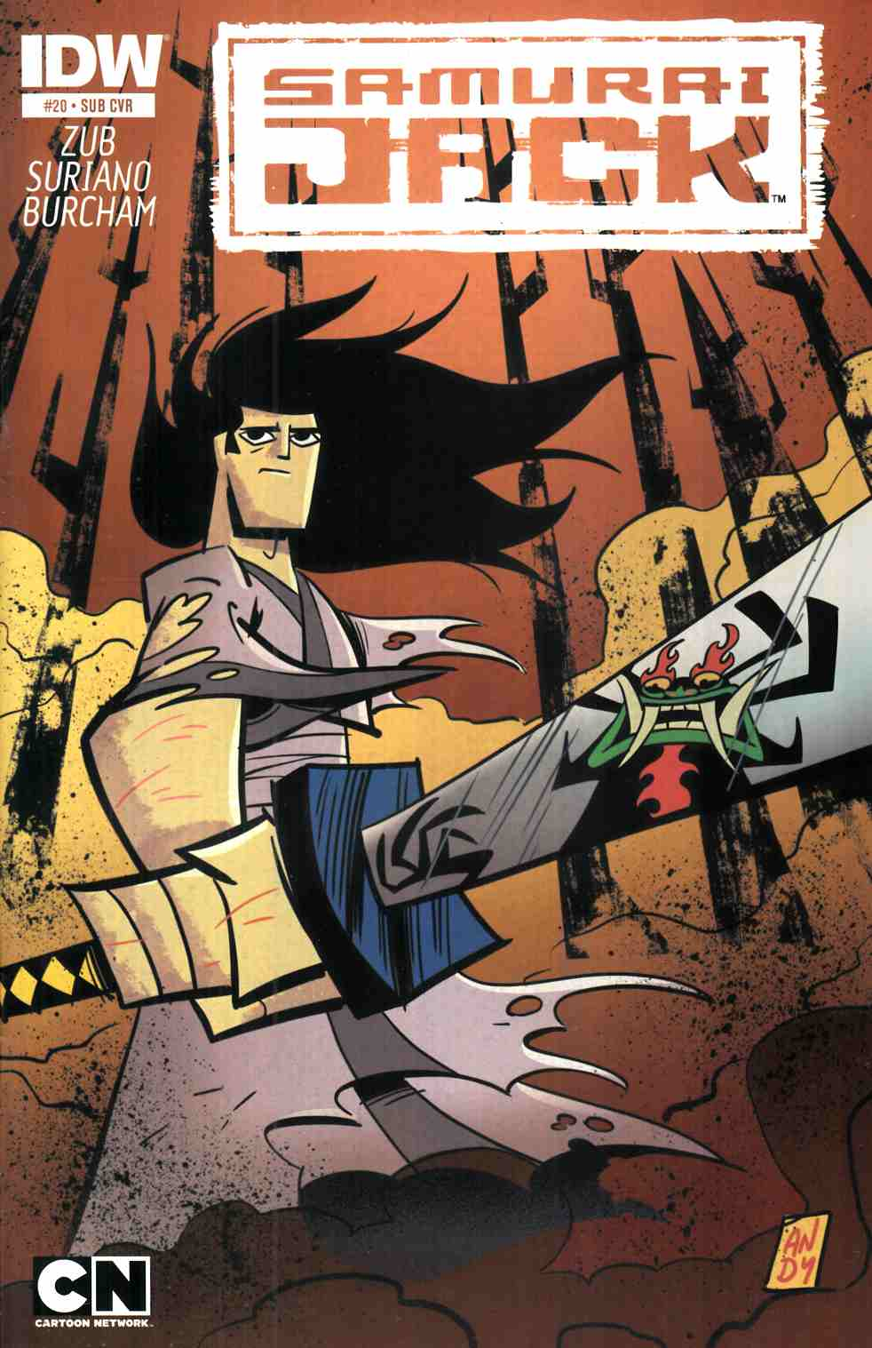 Samurai Jack #20 Subscription Cover [IDW Comic] THUMBNAIL