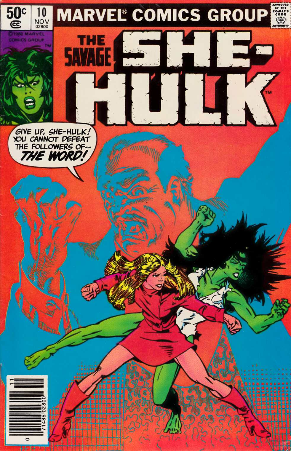 Savage She-Hulk #10 Newsstand Edition Very Good Plus (4.5) [Marvel Comic] THUMBNAIL