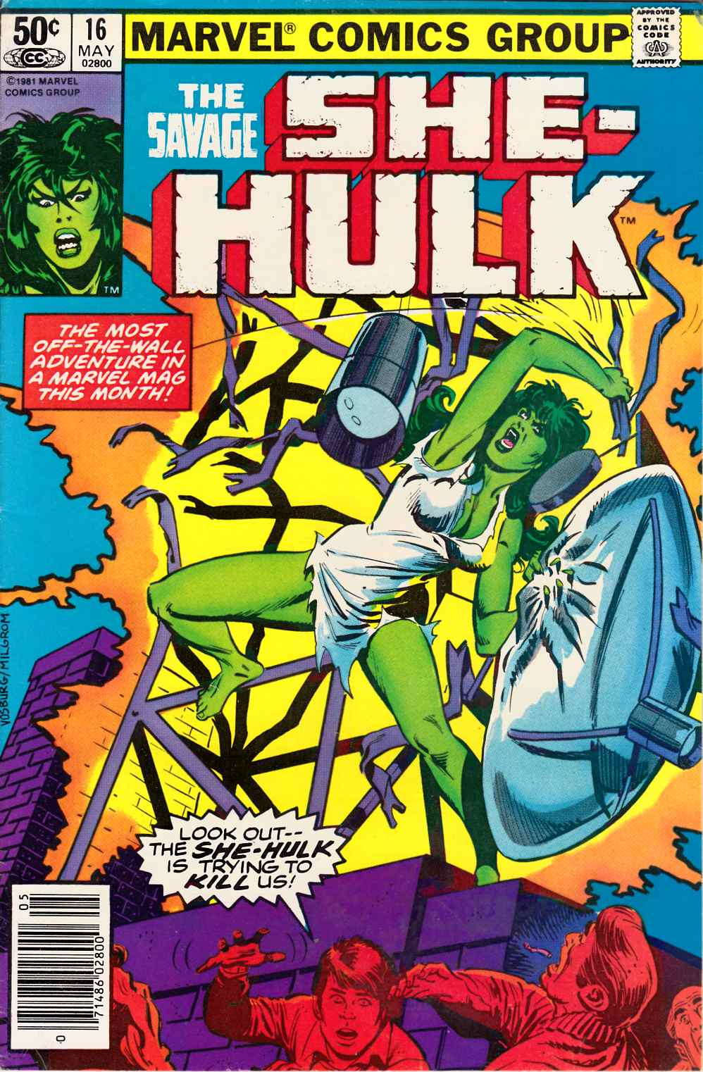 Savage She-Hulk #16 Newsstand Edition Fine (6.0) [Marvel Comic] THUMBNAIL