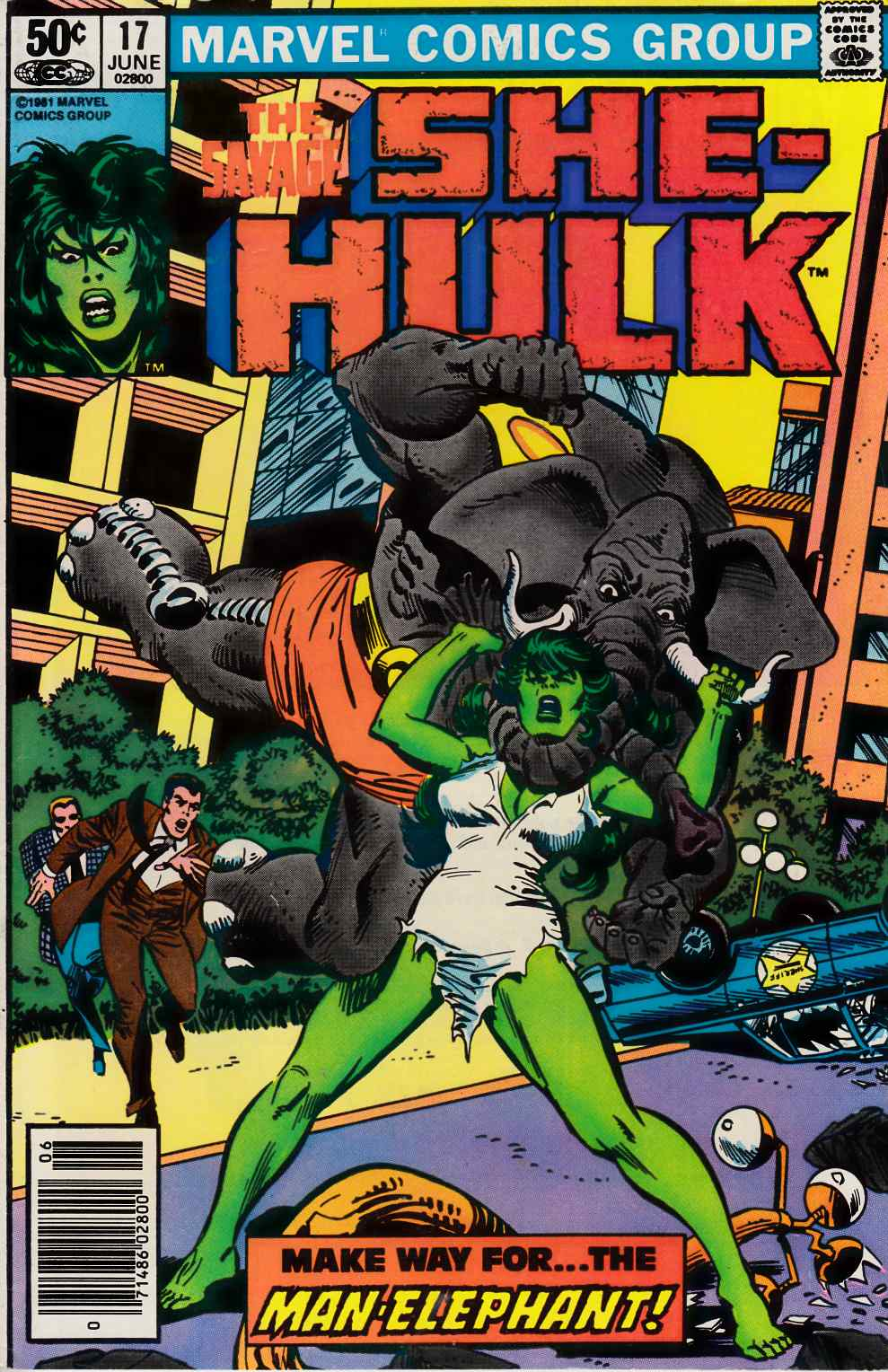 Savage She-Hulk #17 Newsstand Edition Very Fine (8.0) [Marvel Comic] THUMBNAIL