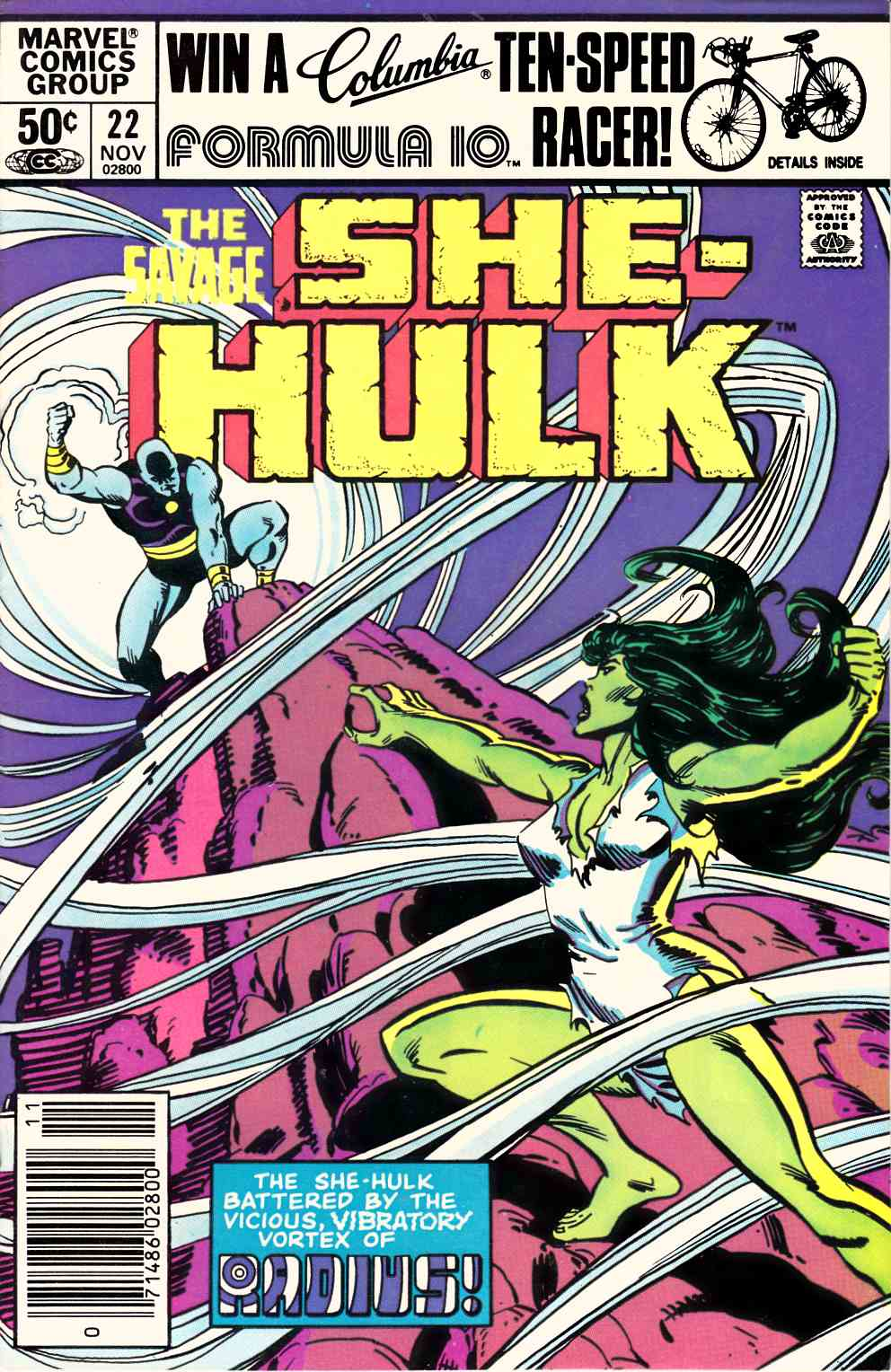 Savage She-Hulk #22 Newsstand Edition Very Fine/Near Mint (9.0) [Marvel Comic] LARGE
