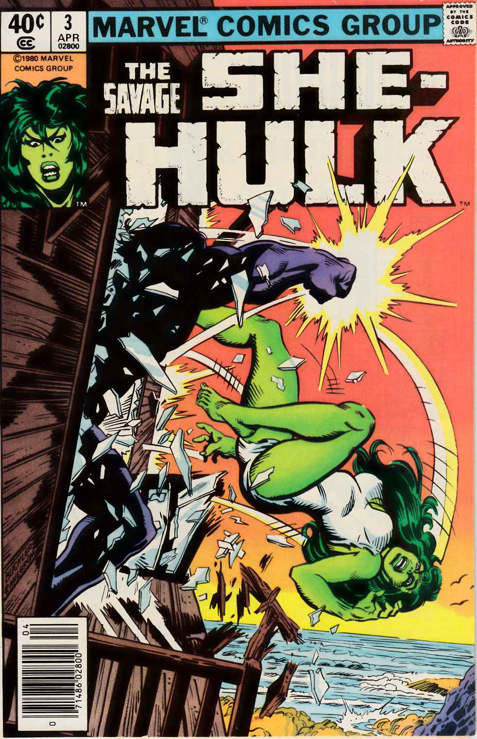 Savage She-Hulk #3 Newsstand Edition Very Fine (8.0) [Marvel Comic] THUMBNAIL