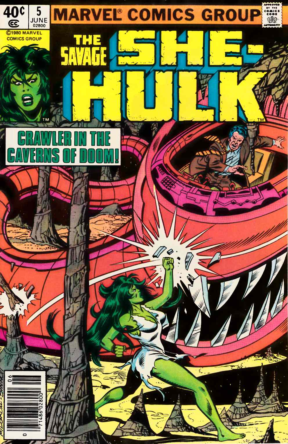 Savage She-Hulk #5 Newsstand Edition Very Fine (8.0) [Marvel Comic] THUMBNAIL
