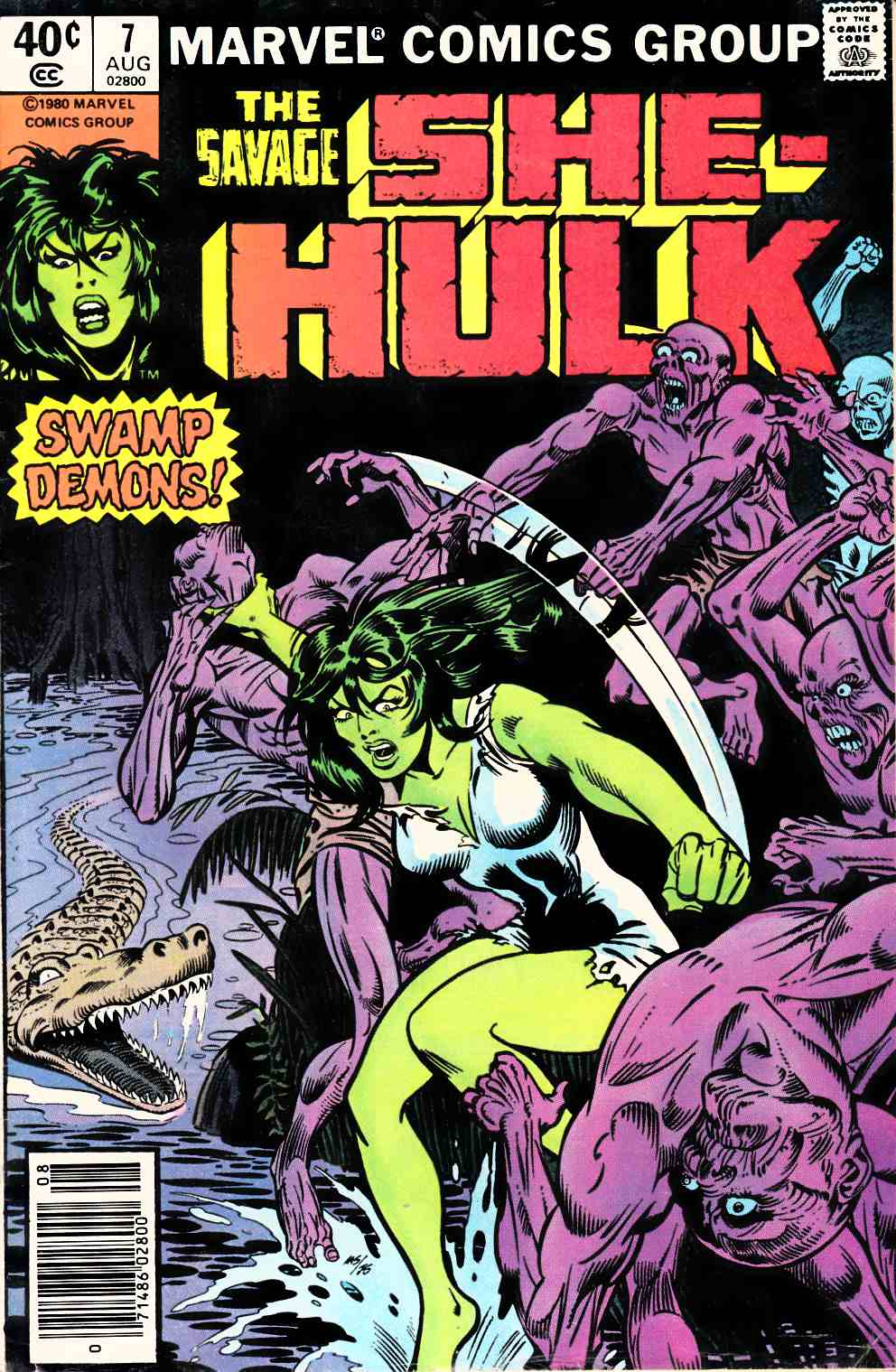 Savage She-Hulk #7 Newsstand Edition Very Good/Fine (5.0) [Marvel Comic] THUMBNAIL