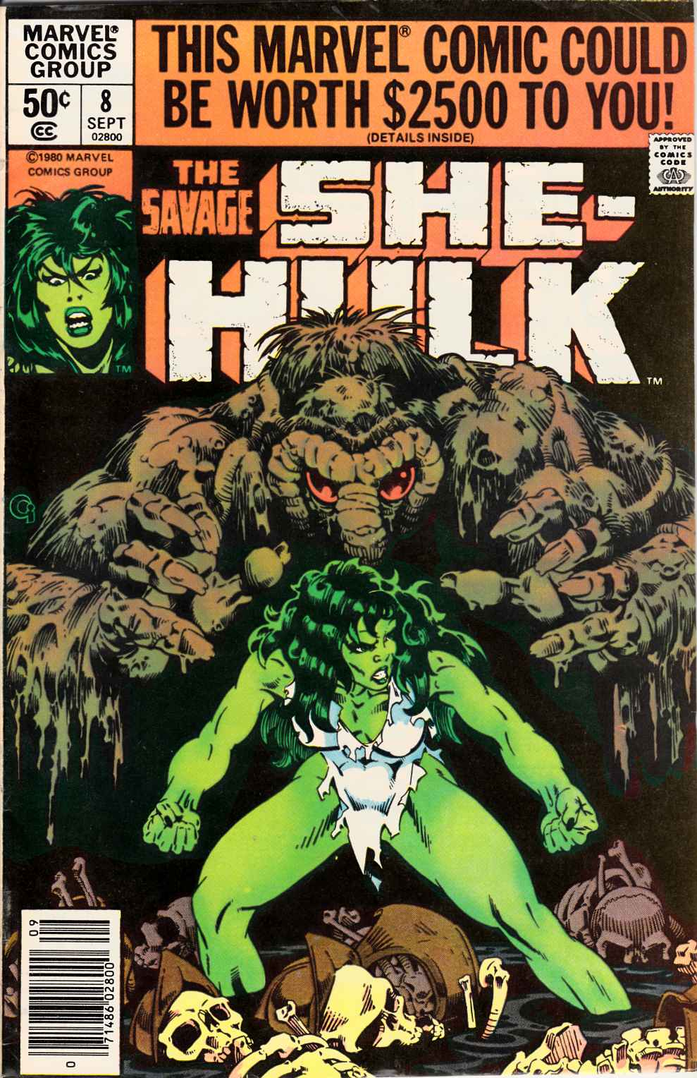 Savage She-Hulk #8 Newsstand Edition Very Good (4.0) [Marvel Comic] LARGE
