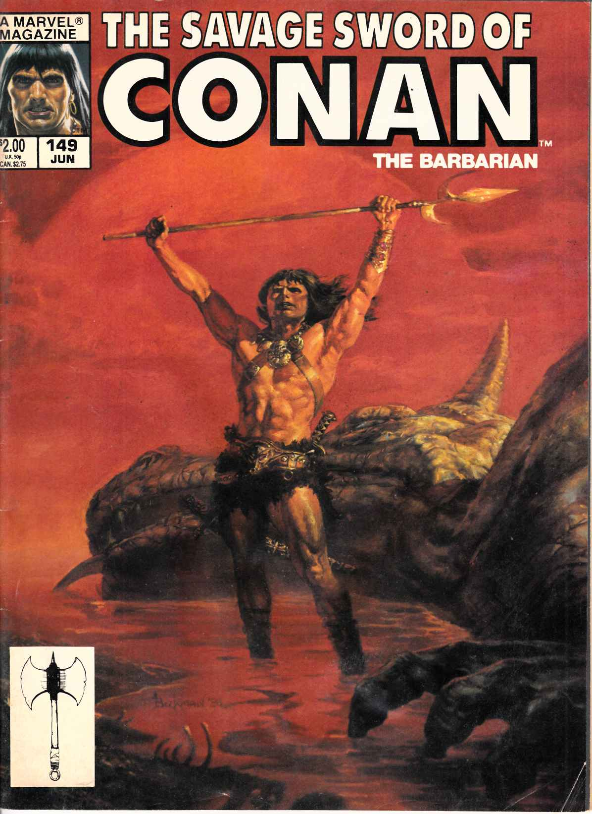 Savage Sword of Conan Magazine #149 Good (2.0) [Marvel Comic] THUMBNAIL
