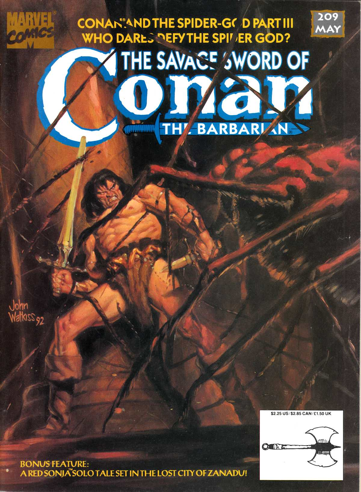 Savage Sword of Conan #209 Fine Plus (6.5) [Marvel Comic]_THUMBNAIL