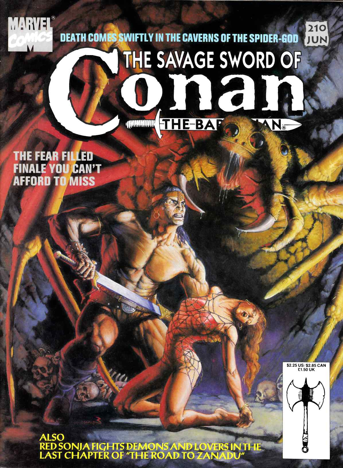 Savage Sword of Conan #210 Very Good Plus (4.5) [Marvel Comic]_THUMBNAIL