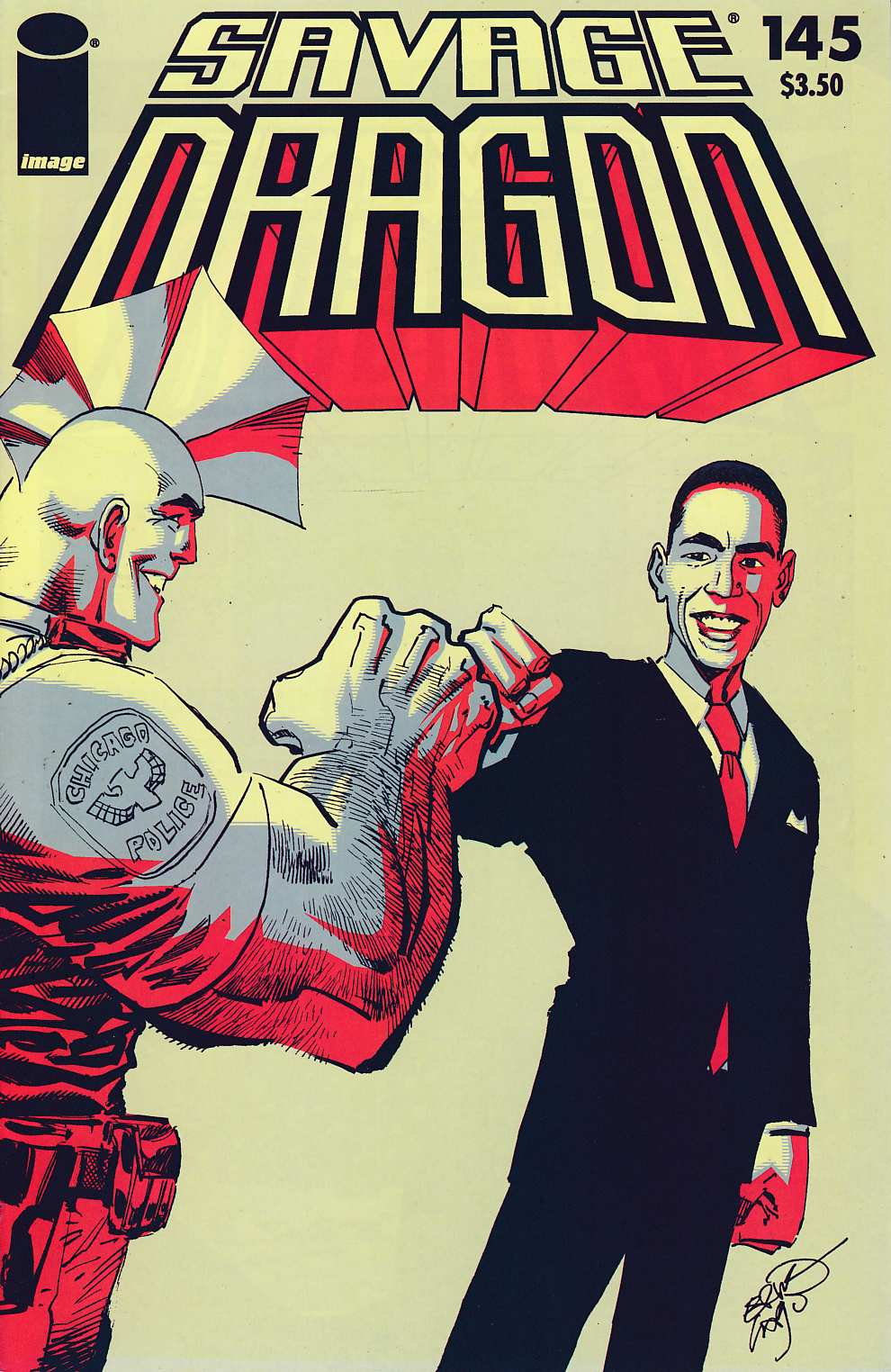 Savage Dragon #145 Obama Cover Near Mint (9.4) [Image Comic] THUMBNAIL