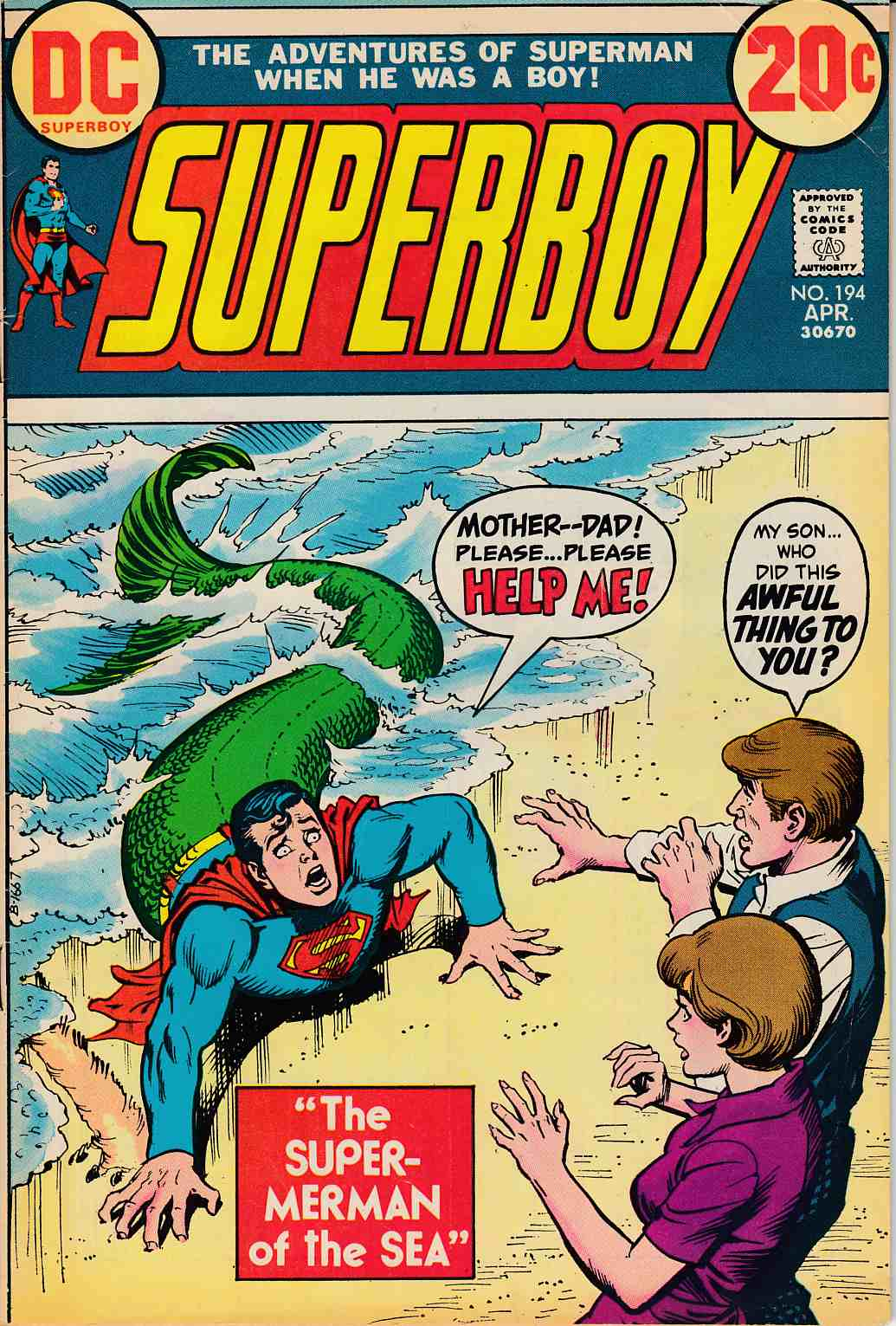 Superboy #194 Very Good Plus (4.5) [DC Comic] LARGE