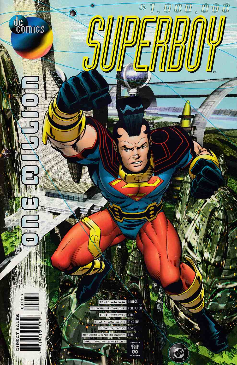 Superboy #One Million Near Mint (9.4) [DC Comic] LARGE