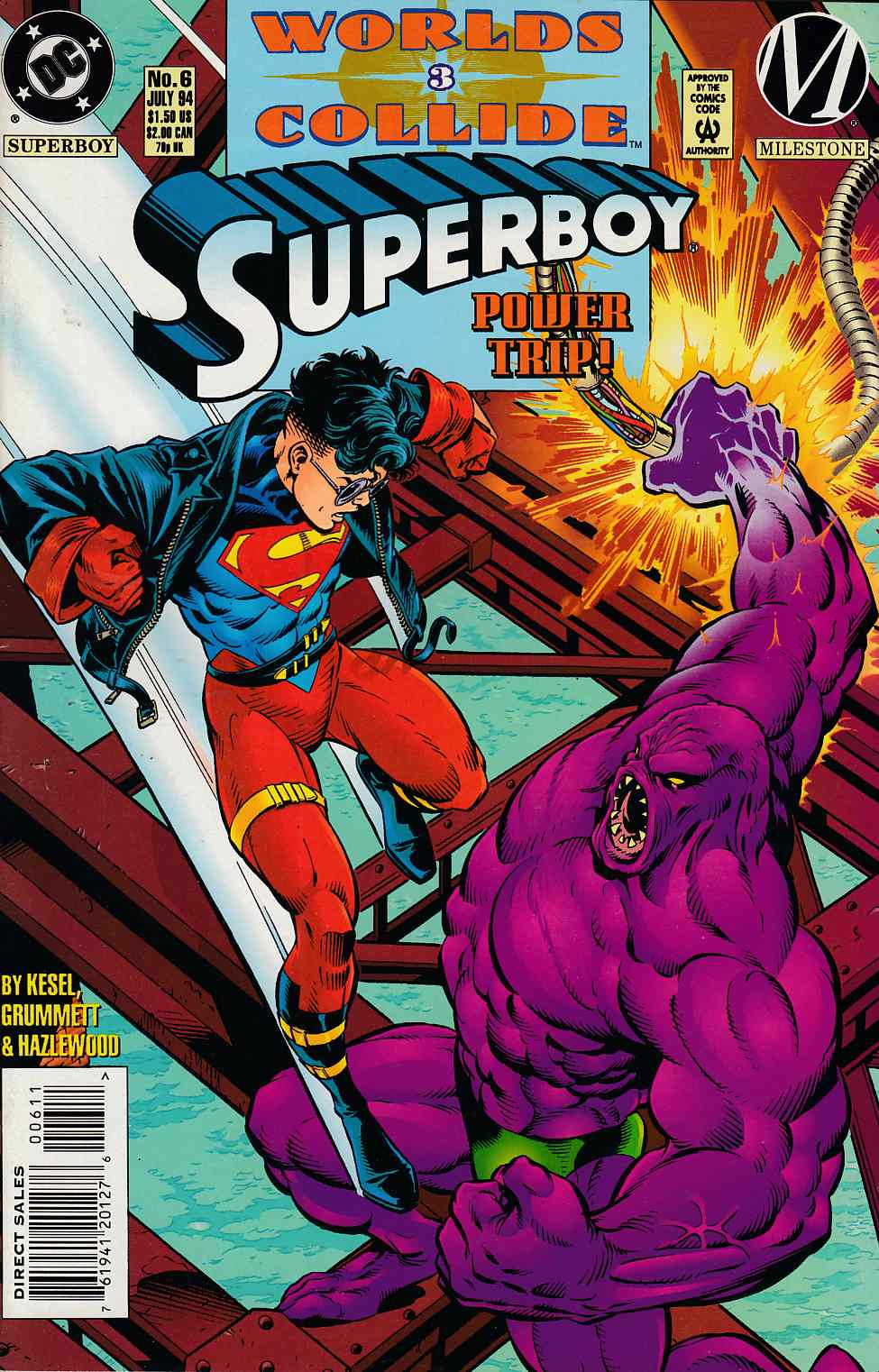 Superboy #6 Near Mint (9.4) [DC Comic] THUMBNAIL
