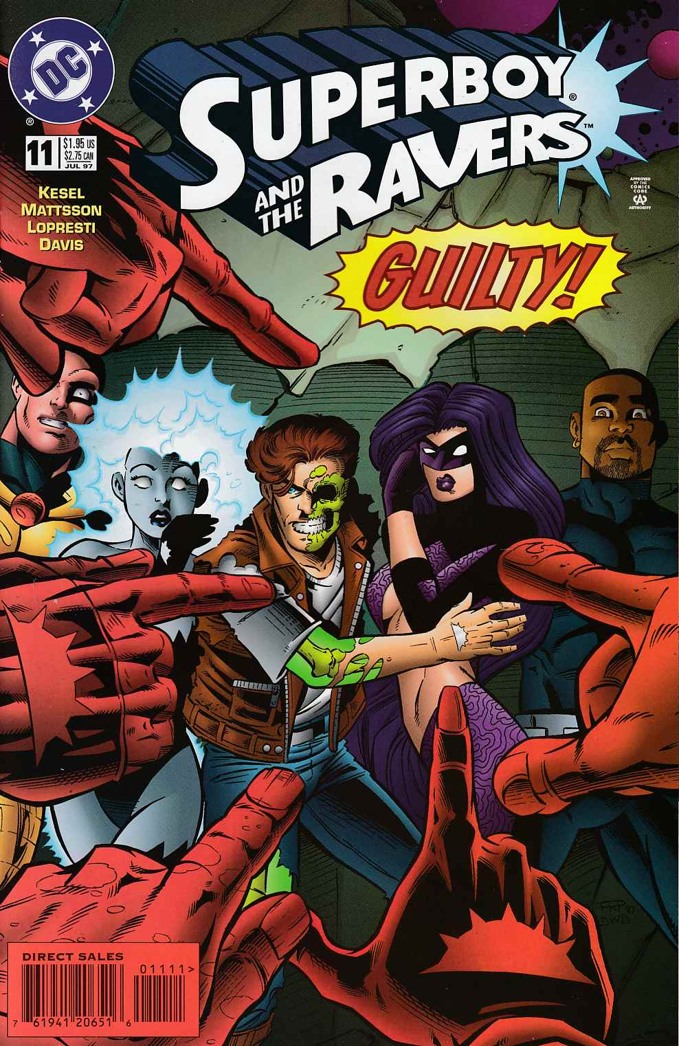 Superboy and the Ravers #11 Near Mint (9.4) [DC Comic] THUMBNAIL