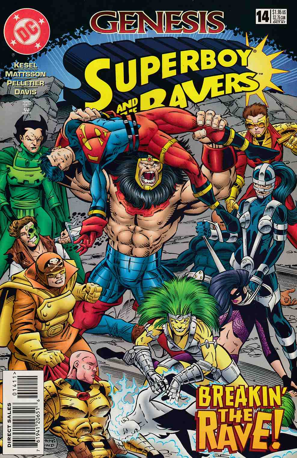 Superboy and the Ravers #14 Near Mint (9.4) [DC Comic] THUMBNAIL