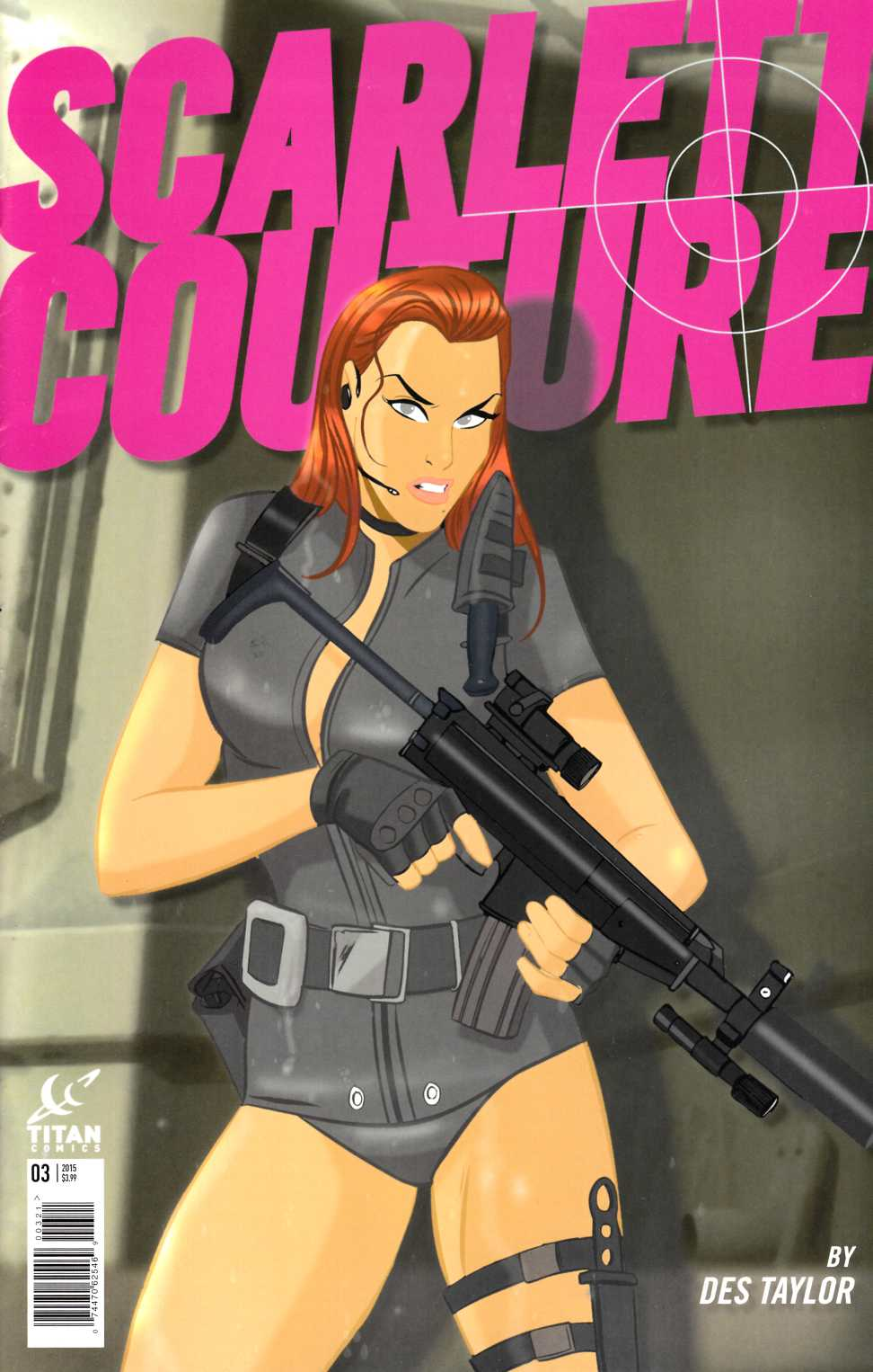 Scarlett Couture #3 Subscription Cover [Titan Comic] THUMBNAIL