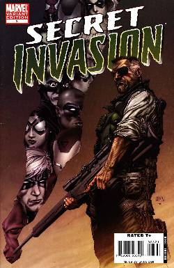 Secret Invasion #3 McNiven Variant Cover Near Mint (9.4) [Marvel Comic] LARGE