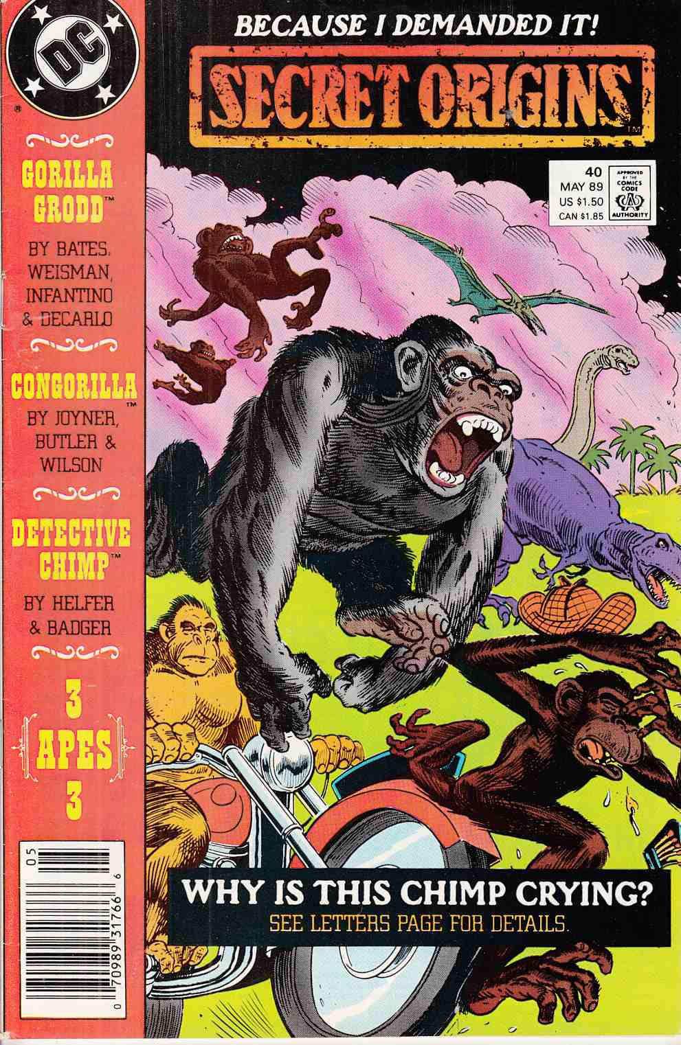 Secret Origins #40 Newsstand Fine (6.0)  [DC Comic] LARGE