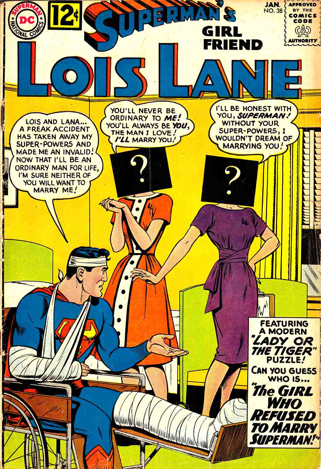 Superman's Girlfriend Lois Lane #38 Very Good Minus (3.5) [DC Comic] LARGE