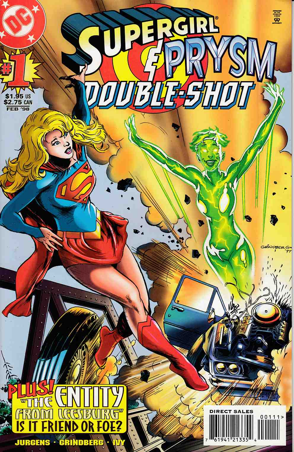 Supergirl Prysm Double Shot #1 Near Mint (9.4) [DC Comic] LARGE