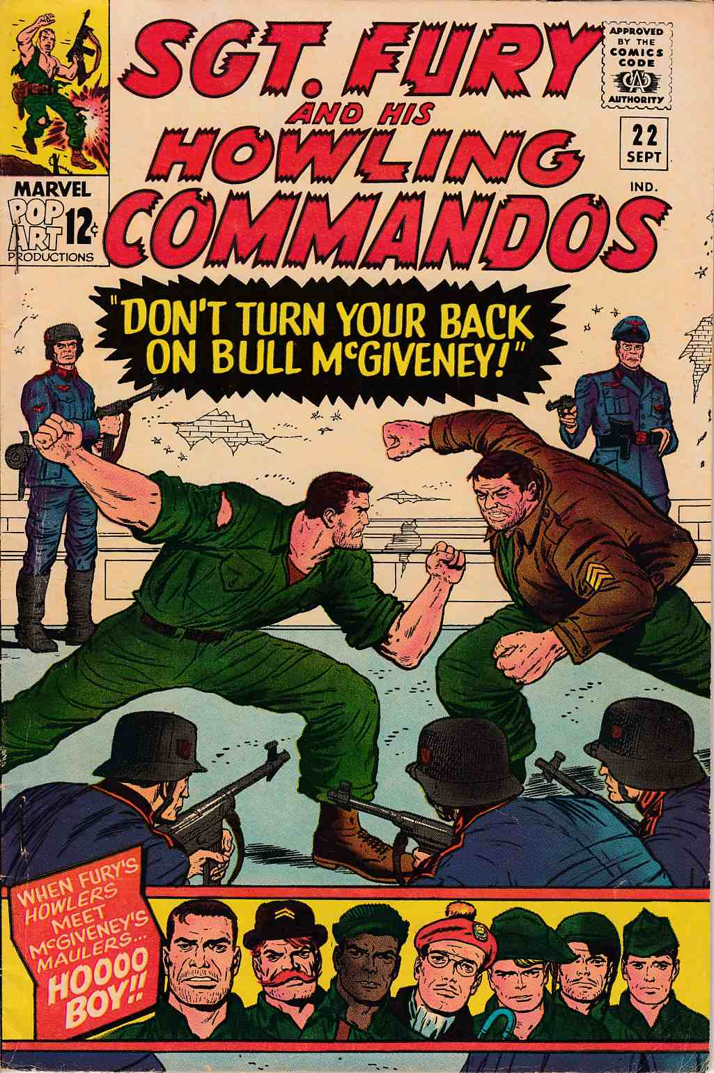 Sgt. Fury and His Howling Commandos #22 Fine (6.0) [Marvel Comic] THUMBNAIL