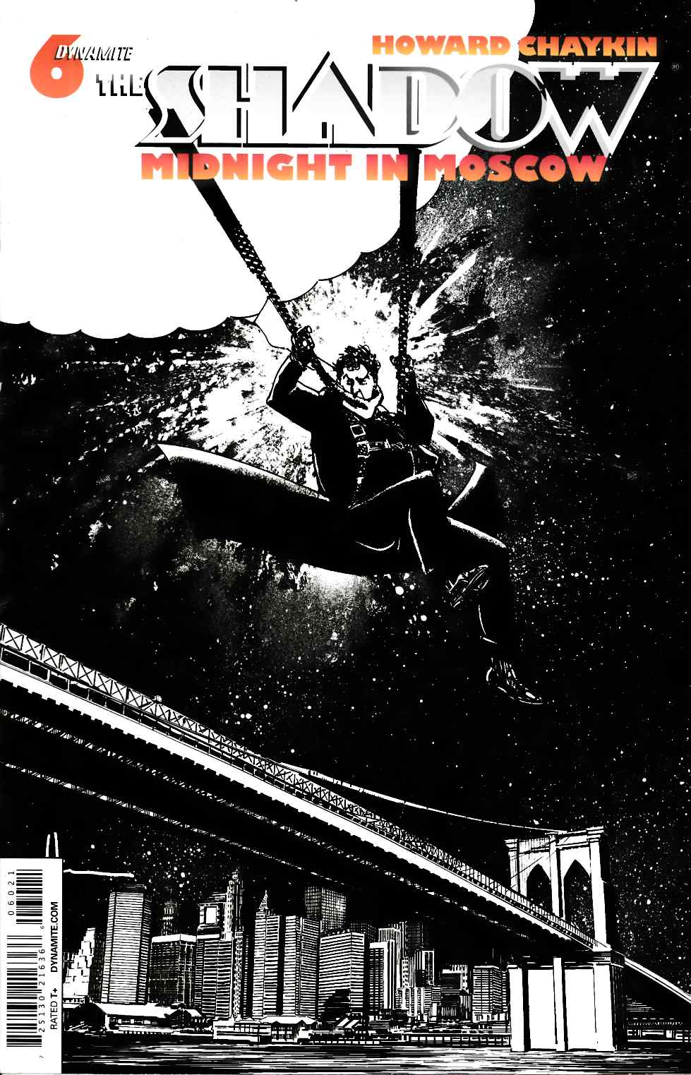 Shadow Midnight Moscow #6 Rare Chaykin B&W Cover [Dynamite Comic]_THUMBNAIL