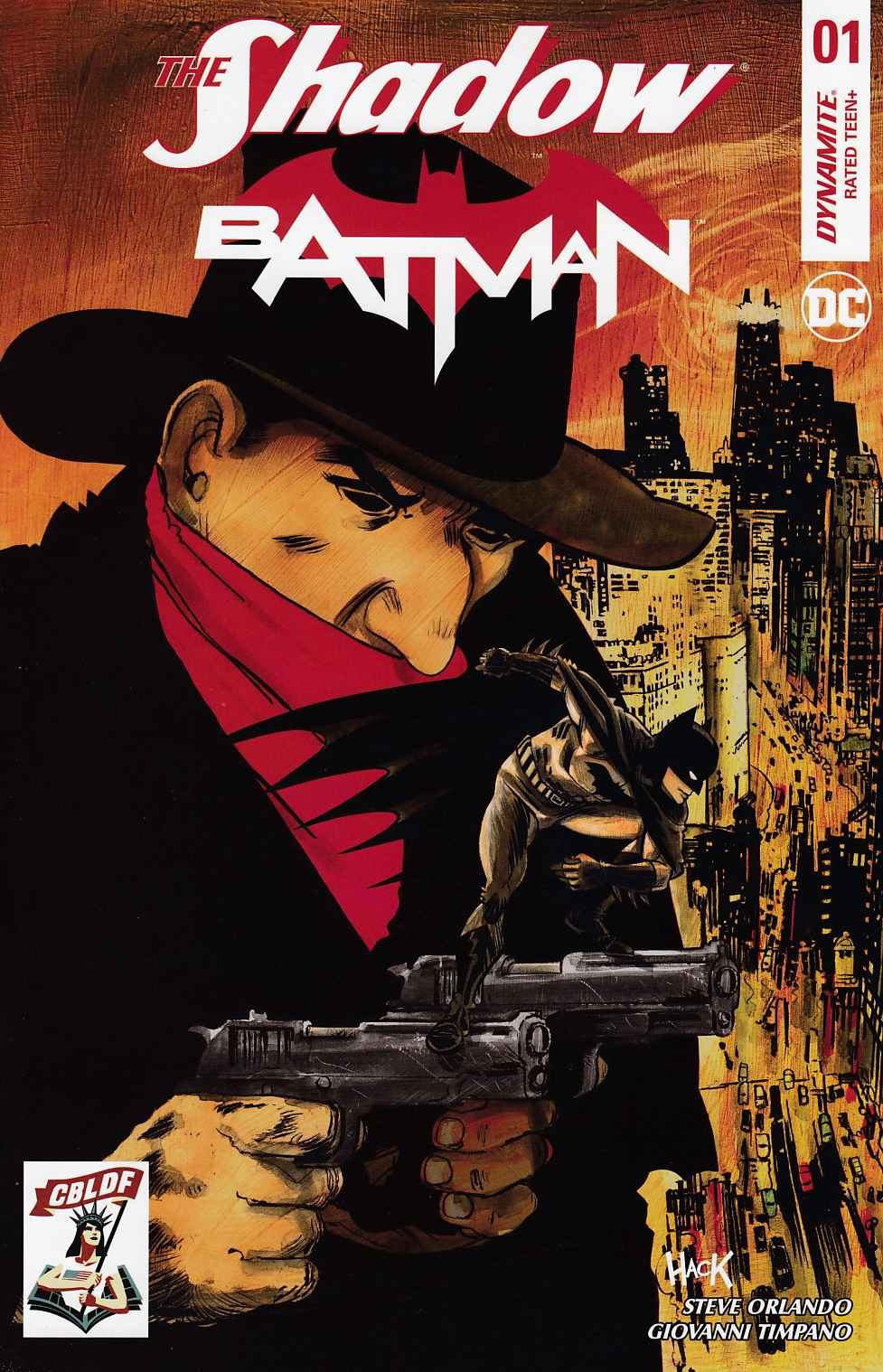 Shadow Batman #1 Hack CBLDF Variant Cover [Dynamite Comic] THUMBNAIL