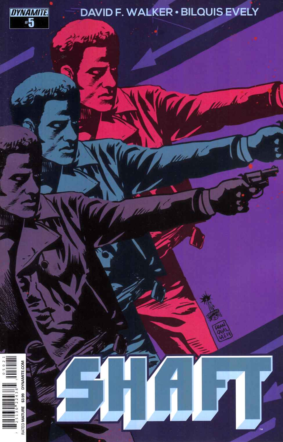 Shaft #5 Cover B- Francavilla [Dynamite Comic]