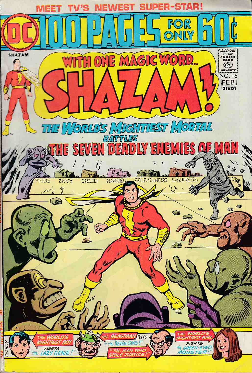 Shazam #16 Very Good/Fine (5.0) [DC Comic]_THUMBNAIL