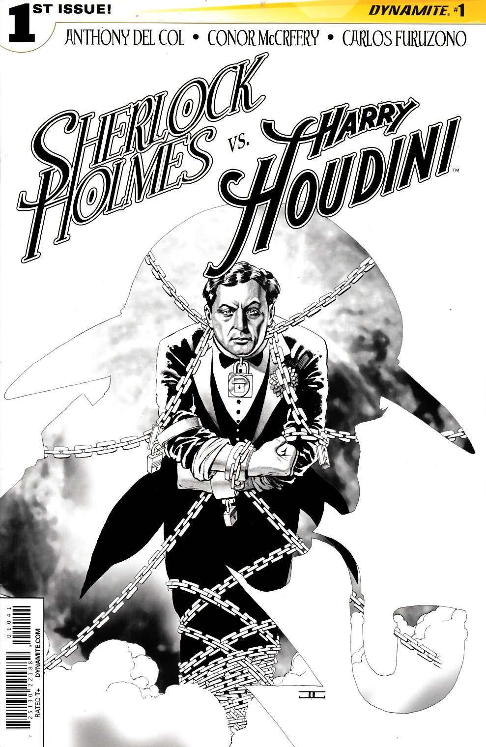 Holmes vs Houdini #1 Cassaday B&W Incentive Cover [Comic] THUMBNAIL