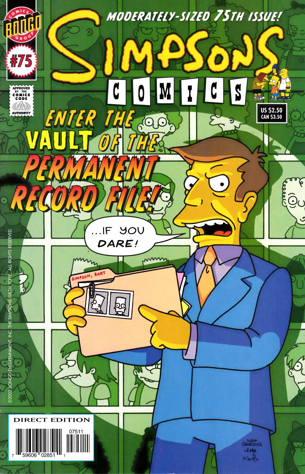 Simpsons Comics #75 Fine Plus (6.5) [Bongo Comic] THUMBNAIL