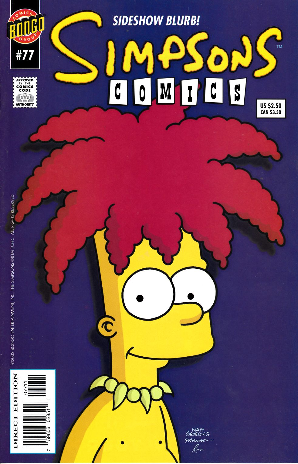 Simpsons Comics #77 Very Fine (8.0) [Bongo Comic] THUMBNAIL