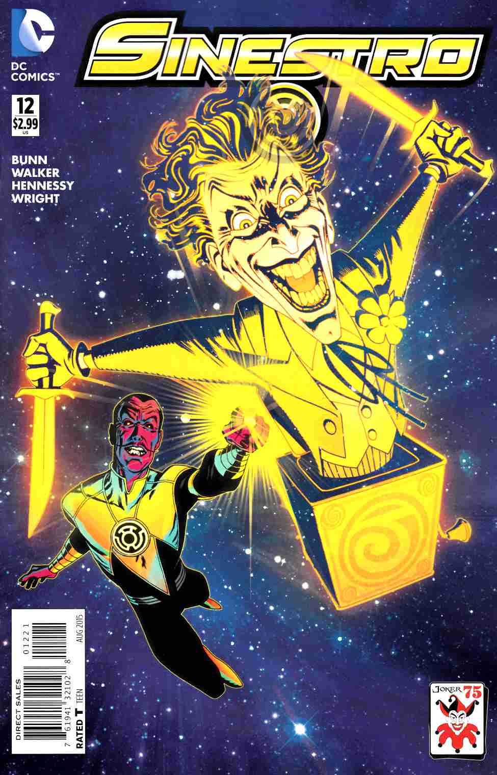 Sinestro #12 The Joker Variant Cover [DC Comic] LARGE