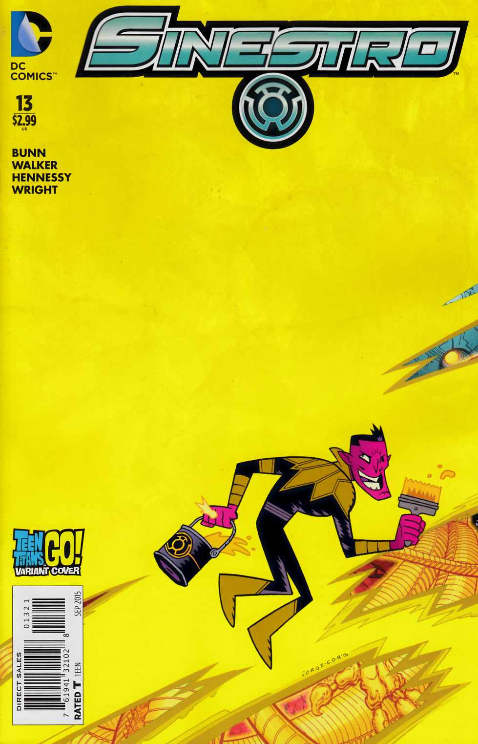 Sinestro #13 Teen Titans Go Variant Cover [DC Comic] LARGE