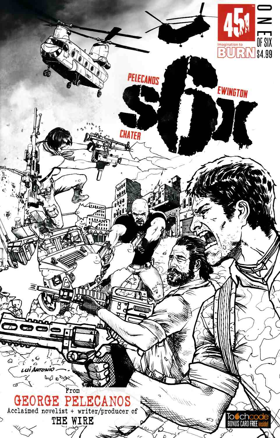 Six #1 Cover B- Antonio [451 Media Comic] LARGE