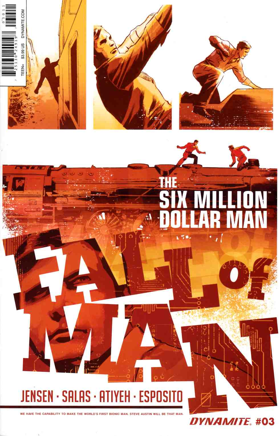 Six Million Dollar Man Fall #3 [Dynamite Comic] LARGE